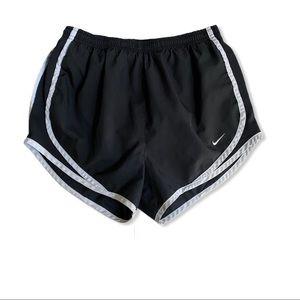 Nike Dri-Fit Black White Running Shorts S